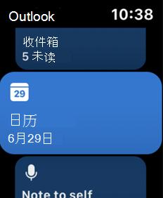 显示 Apple Watch 屏幕