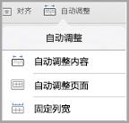 iPad 自动调整选项