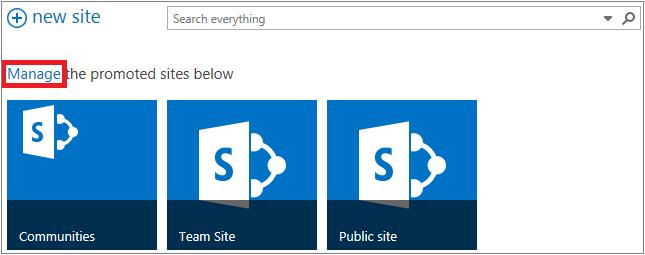 """突出显示""""管理""""链接的""""网站""""页面的示例"""