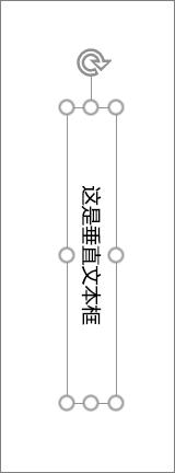 垂直文本的垂直文本框