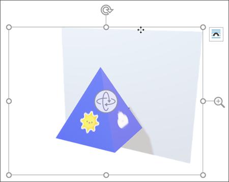 3D 模型的平移和缩放控件。