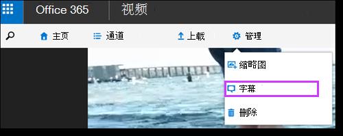 Office 365 视频字幕