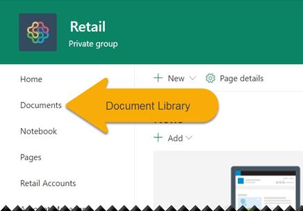 """在左侧导航中,选择""""文档""""以打开文档库。"""