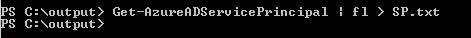 用于将输出重定向到文本文件的命令行