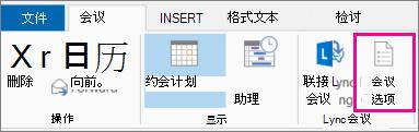 """Outlook 2013 中的""""会议选项""""按钮"""