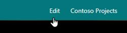"""""""页脚名称和编辑""""按钮"""