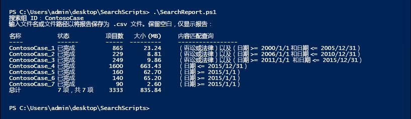 运行搜索报告以显示对搜索组的估计