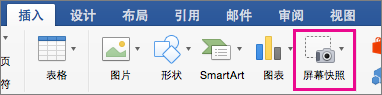 Office 2016 for Mac 屏幕截图功能