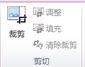 """Publisher 2010 中的""""图片工具""""选项卡上的""""裁剪""""组"""