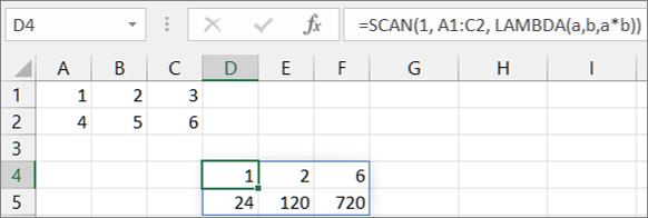 第一个 SCAN 函数示例