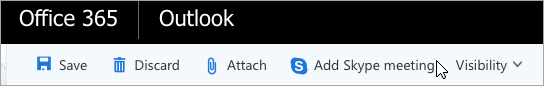 将 Skype 会议添加到电子邮件