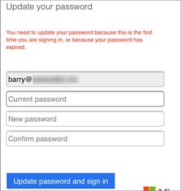 键入新密码。