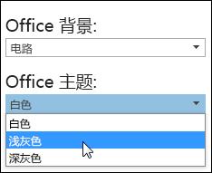 选择其他 Office 主题