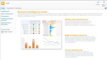 商业智能中心,包含帮助您入门的有用信息和链接