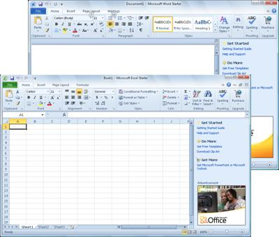 Word Starter 和 Excel Starter