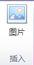 """Publisher 2010 中的""""图片工具""""选项卡上的""""插入""""组"""