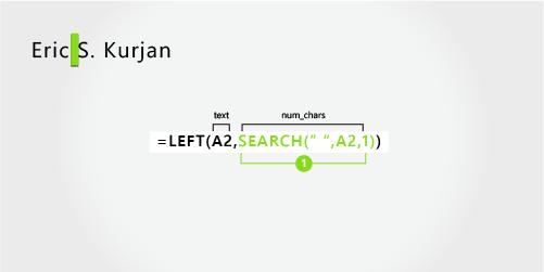 用于分隔名字和姓氏,以及中间名首写字母的公式