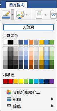 显示图片边框的轮廓颜色。