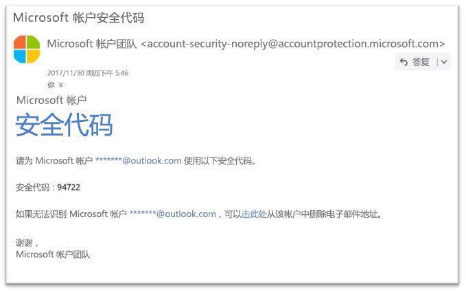 Microsoft 合法密码重置