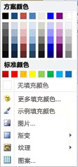 Publisher 2010 中的艺术字形状填充选项