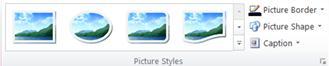 """Publisher 2010 中的""""图片工具""""选项卡上的""""图片样式""""组"""
