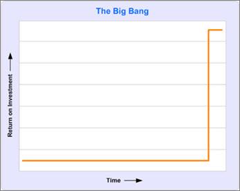 图表显示在项目结束之前没有投资回报
