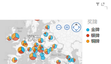 为 Power View 地图可视化效果应用颜色