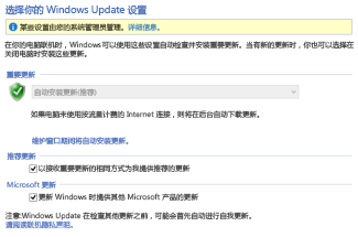 "Windows 8""控制面板""中的""Windows 更新""设置"