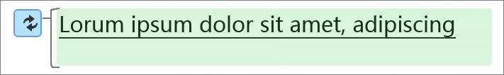 绿色突出显示指示更改过的文本。