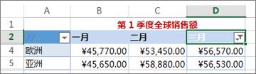 应用自定义数字筛选后的结果