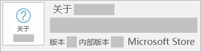 显示版本和内部版本的屏幕截图是 Microsoft Store
