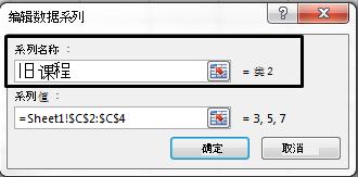"""在""""系列名称""""文本框中键入图例名称,然后单击""""确定""""。"""