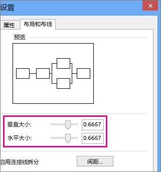 移动滑块或输入数字来设置跨线大小。