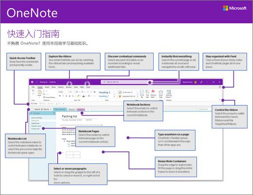 OneNote 2016 快速入门指南 (Windows)