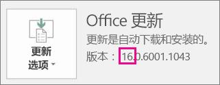显示如何判断正在运行的 Office 版本。