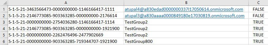 用于数据内容迁移的用户映射文件