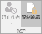 """""""保护文档""""选项"""