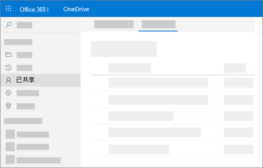 我在 OneDrive for Business 中查看的共享的程序的屏幕截图