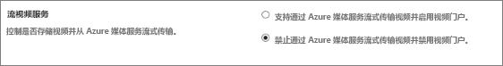 在 SharePoint Online 管理中心内禁用 Office 365 视频设置