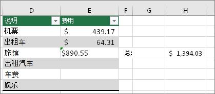 #VALUE! 错误消失,替换为公式结果。 单元格 E4 中的绿色矩形