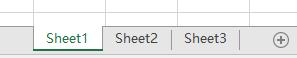 在 Excel 窗格的底部显示的 Excel 工作表标签