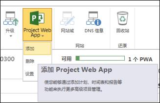 """Project Web App"">""添加"""