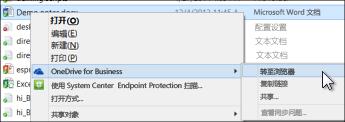 在 Web 浏览器中查看已同步的文件夹中的文件