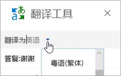 """""""翻译工具""""窗口的屏幕截图"""