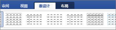 """显示""""表设计""""和用于管理表的""""布局""""选项卡"""