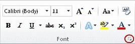 """""""字体""""对话框启动器"""