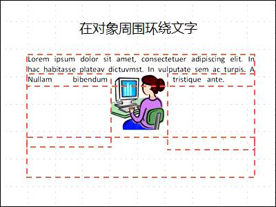 幻灯片,其中对象已插入并且文本框已显示,有一部分文字。