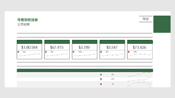 Excel 中的财务报表模板