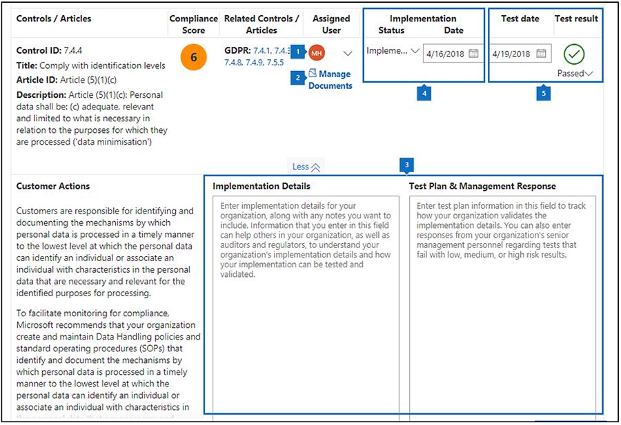 带有标注的合规性管理器评估工作流