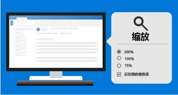 邮件位于左侧,缩放工具位于右侧